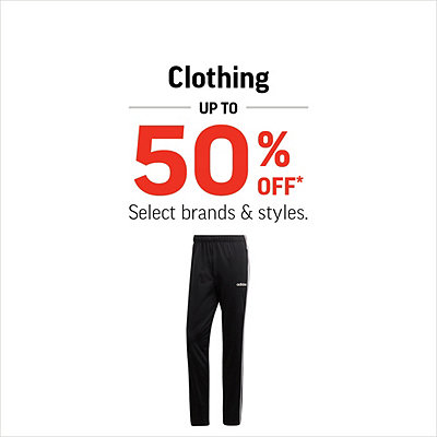 Men's, Women's & Kids' Clothing up to 50% Off*