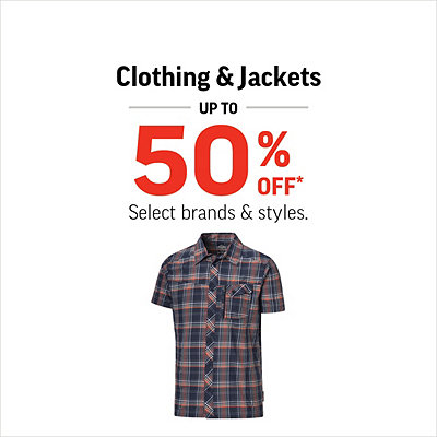 Men's & Women's Clothing & Jackets up to 50% Off*