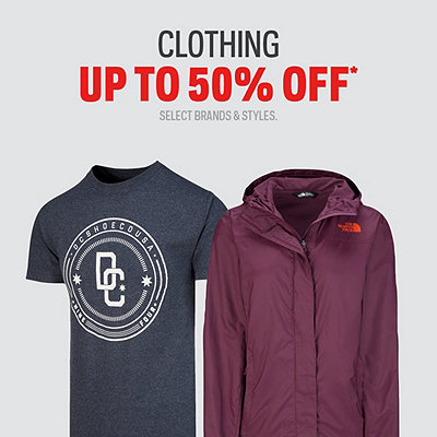 Men's, Women's & Kids' Clothing Up To 50% Off