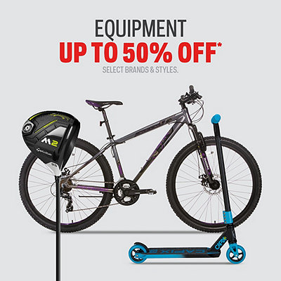 Select Equipment Deals up to 50% Off*