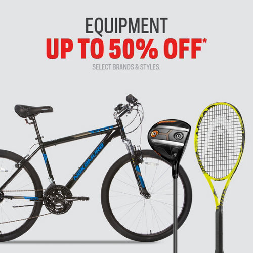 Equipment Up to 50%