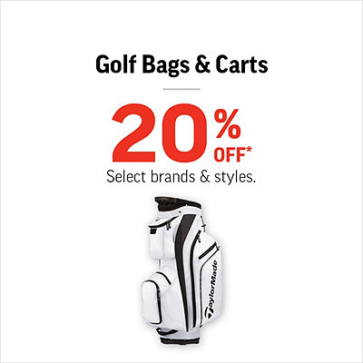 Select Golf Bags & Carts 20% Off*
