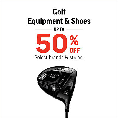 Select Golf Equipment & Shoes Up To 50% Off*