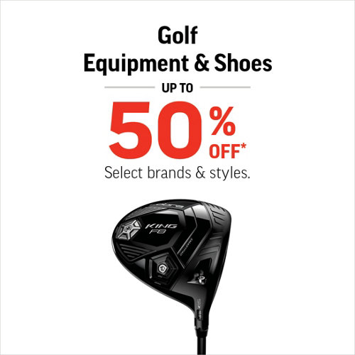 Golf Equipment & Shoes Up to 50% Off* Select Brands & Styles.