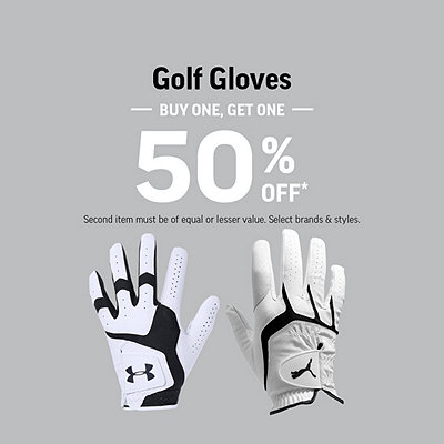 Select Golf Gloves Buy One, Get One 50% Off