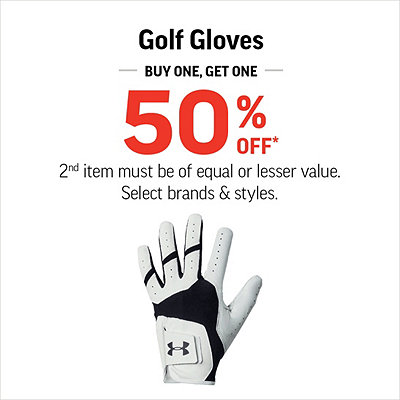 Select Golf Gloves Buy One Get One 50% Off*
