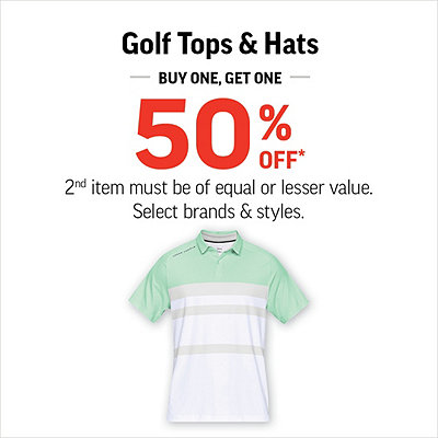 Select Golf Tops & Hats Buy One Get One 50% Off*