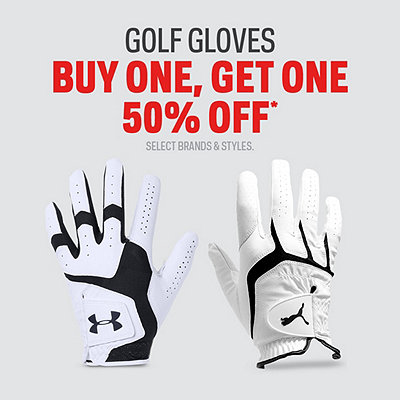 Golf Gloves Buy One, Get One 50% Off