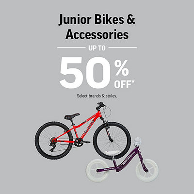 Select Junior Bikes & Accessories Up To 50% Off*