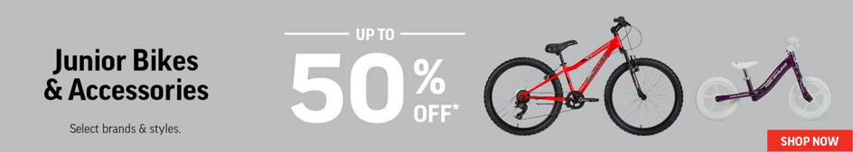 Junior Bikes & Accessories Up to 50% Off* Select Brands & Styles. Shop Now.