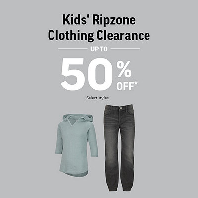 Kids' Ripzone Clothing Clearance Up To 50% Off*