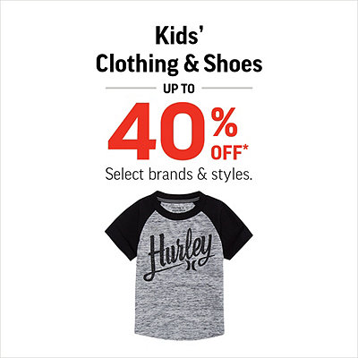 Kids' Clothing & Shoes Up to 40% Off*