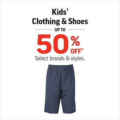 Kids' Shoes & Clothing up to 50% Off*