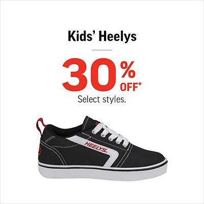 Select Kids' Heelys Shoes 30% Off*