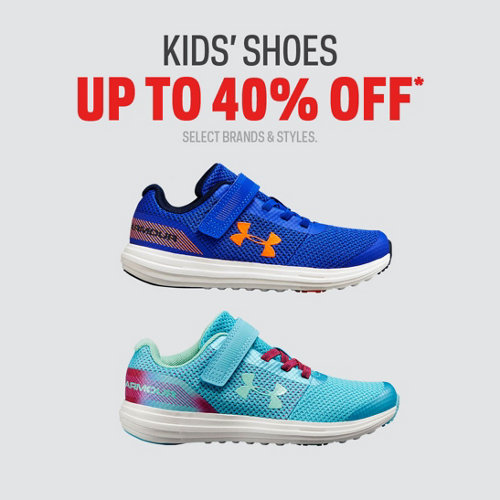 Kids' Shoes Up to 40% Off. Select Brands & Styles.