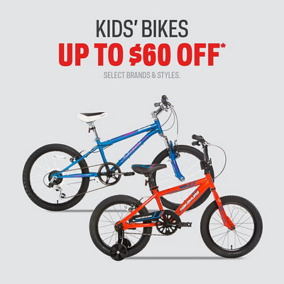 Select Kids' Bikes Up To $60 Off*