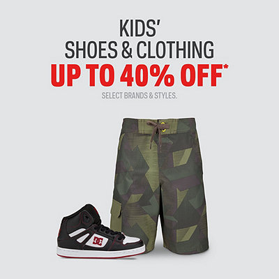 Select Kids' Shoes & Clothing up to 40% Off*