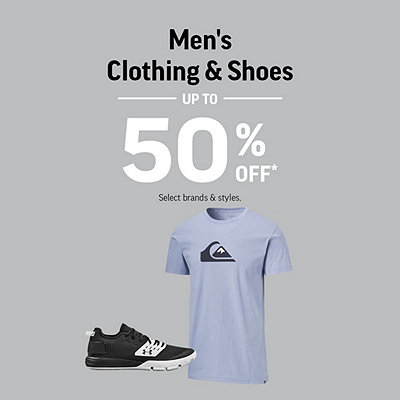 Men's Shoes & Clothing up to 55% Off*