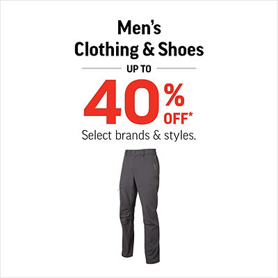 Men's Clothing & Shoes Up To 40% Off*