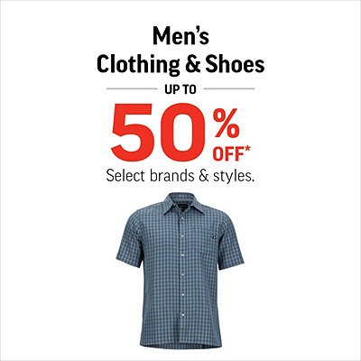 Men's Shoes & Clothing up to 50% Off