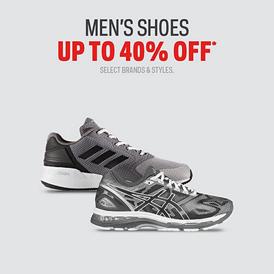 Select Men's Shoes up to $80 Off*