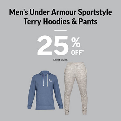 Men's Select Under Armour Sportstyle Terry Hoodies & Pants 25% Off*