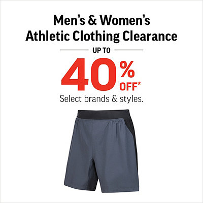 Men's & Women's Athletic Clothing Clearance Up To 40% Off*