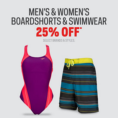 Men's & Women's Boardshorts & Swimwear 25% Off*