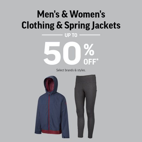 Men's & Women's Clothing & Spring Jackets Up to 50% Off. Select Brands & Styles.