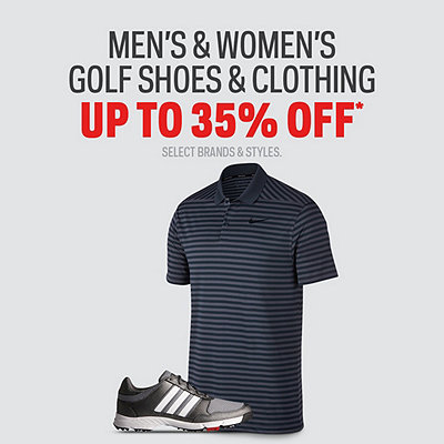 Men's & Women's Golf Shoes & Clothing Up to 35% Off