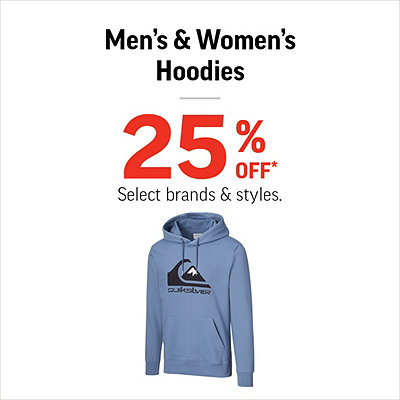 Men's & Women's Hoodies 25% Off*