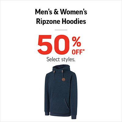 Men's & Women's Ripzone Hoodies 50% Off*