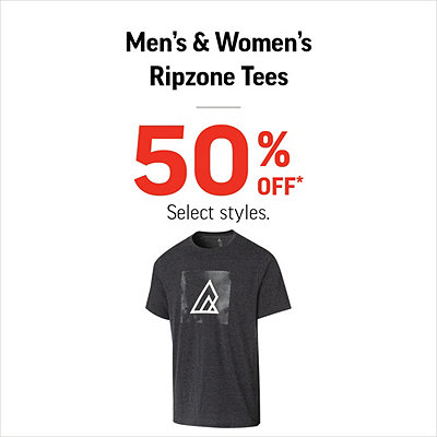 Men's & Women's Ripzone Tees 50% Off*