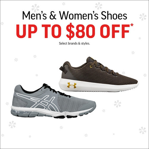 Men's & Women's Shoes Up to $80 Off* Select Brands & Styles.