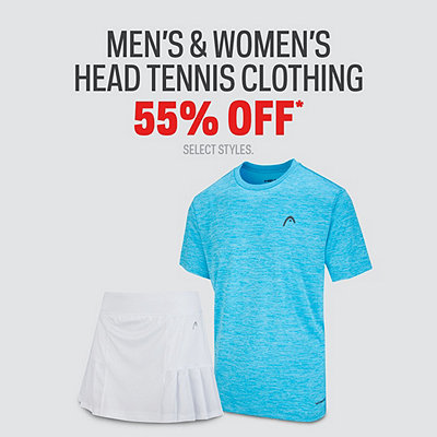 Men's & Women's Head Tennis Clothing 55% Off