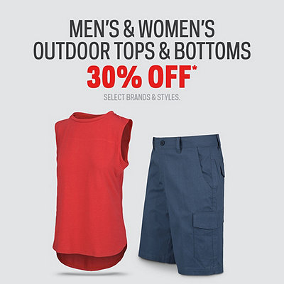 Men's and Women's Select Outdoor Tops & Bottoms 30% Off