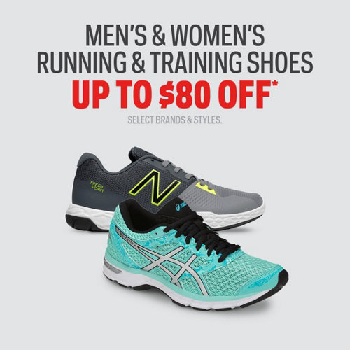 Men's & Women's Running & Training Shoes Up to $80 Off