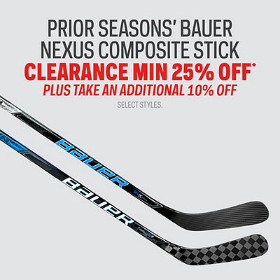Prior Season's Bauer Nexus Composite Stick Clearance