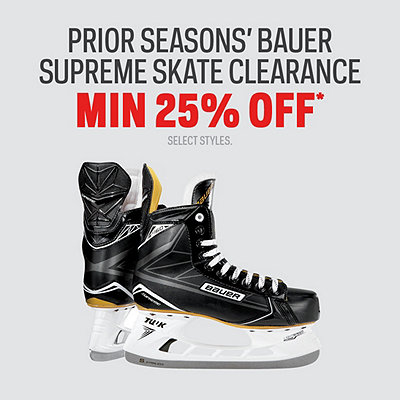 Prior Season's Bauer Supreme Skate Clearance Min 25% Off*