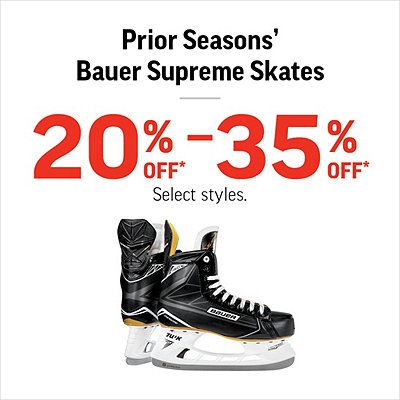Prior Seasons' Bauer Supreme Skate Clearance 20%-35% Off*