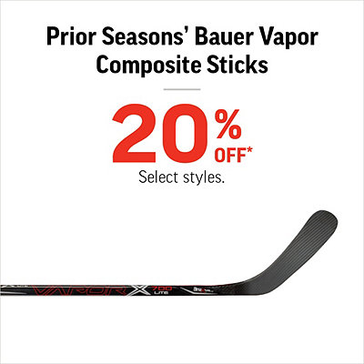 Prior Seasons' Bauer Vapor Composite Sticks 20% Off*
