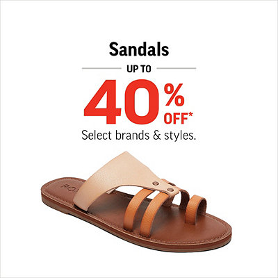 Select Men's, Women's & Kids' Sandals Up To 40% Off*