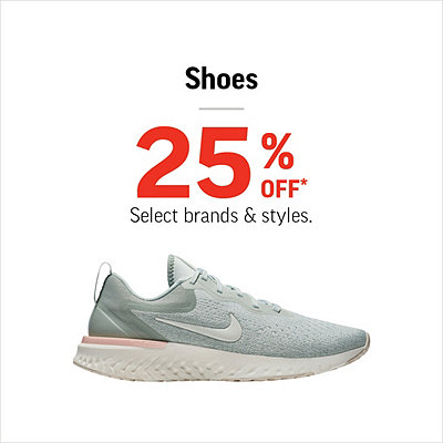 Select Men's, Women's & Kids' Shoes 25% Off*