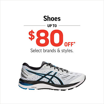 Select Men's, Women's & Kids' Shoes Up to $80 Off*