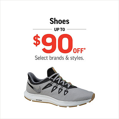 Men's, Women's & Kids' Shoes Up to $90 Off*
