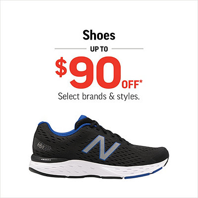 Select Men's, Women's & Kids' Shoes Up To $90 Off*