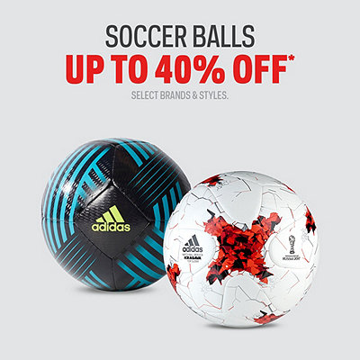 Select Soccer Balls Up to 50% Off*