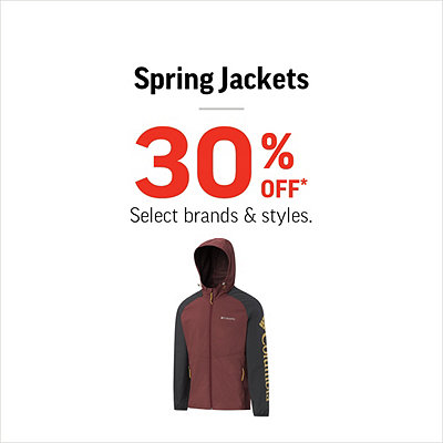 Men's, Women's & Kids' Spring Jackets 30% Off*