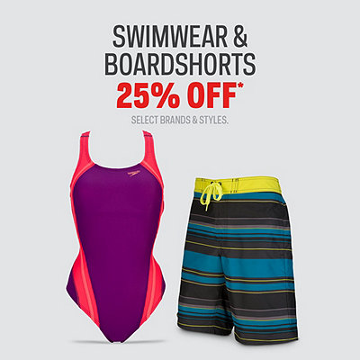 Men's, Women's & Kids' Swimwear & Boardshorts 25% Off*