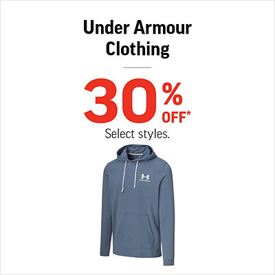 Men's, Women's & Kids' Under Armour Clothing 30% Off*